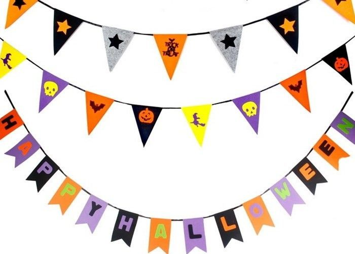 OEM 43 Colors Felt Holiday Decorations Halloween Garland For Halloween
